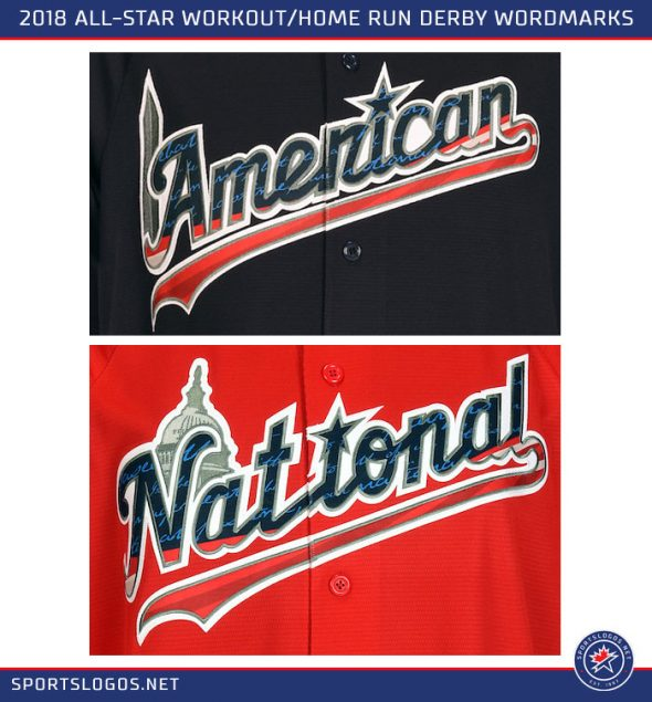"""Across the front the name of the league """"American"""" or """"National"""" is  scripted 41ca0c445b56"""