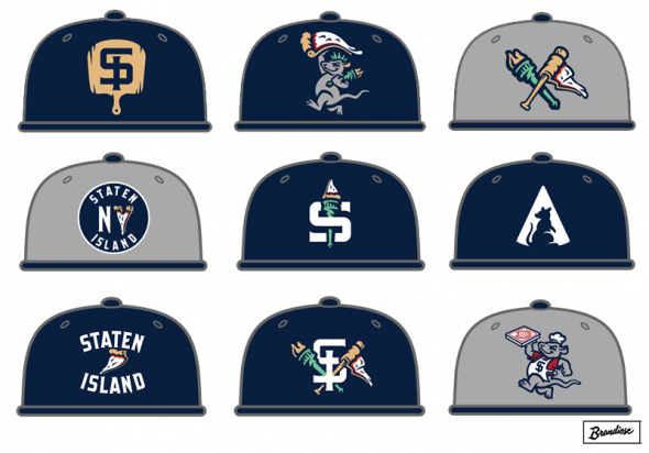 A series of cap options were created, ultimately none of these were chosen (via Brandiose)