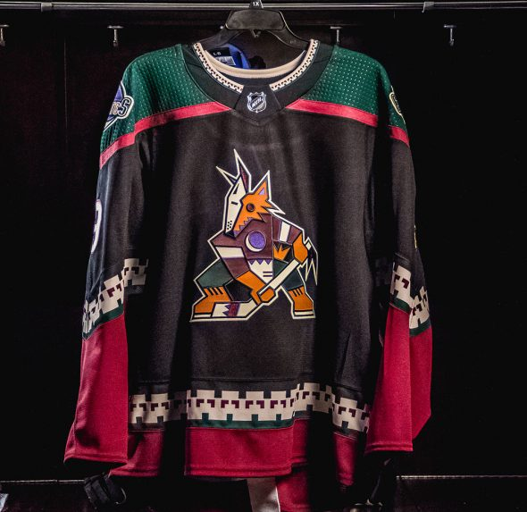 """""""We re thrilled to make our black Kachina jersey the official third jersey  of the Arizona Coyotes febd118e1"""