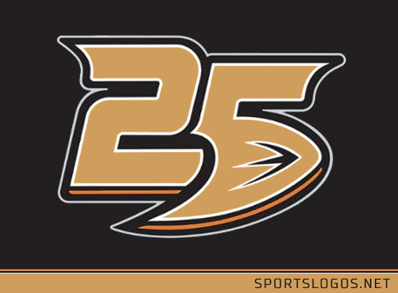 The Ducks have also unveiled a commemorative 25th anniversary patch 890a8dba2