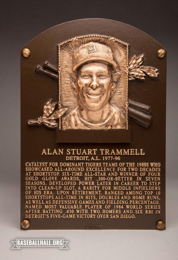 Alan Trammell's Baseball Hall of Fame Plaque (photo Twitter/@BaseballHall)