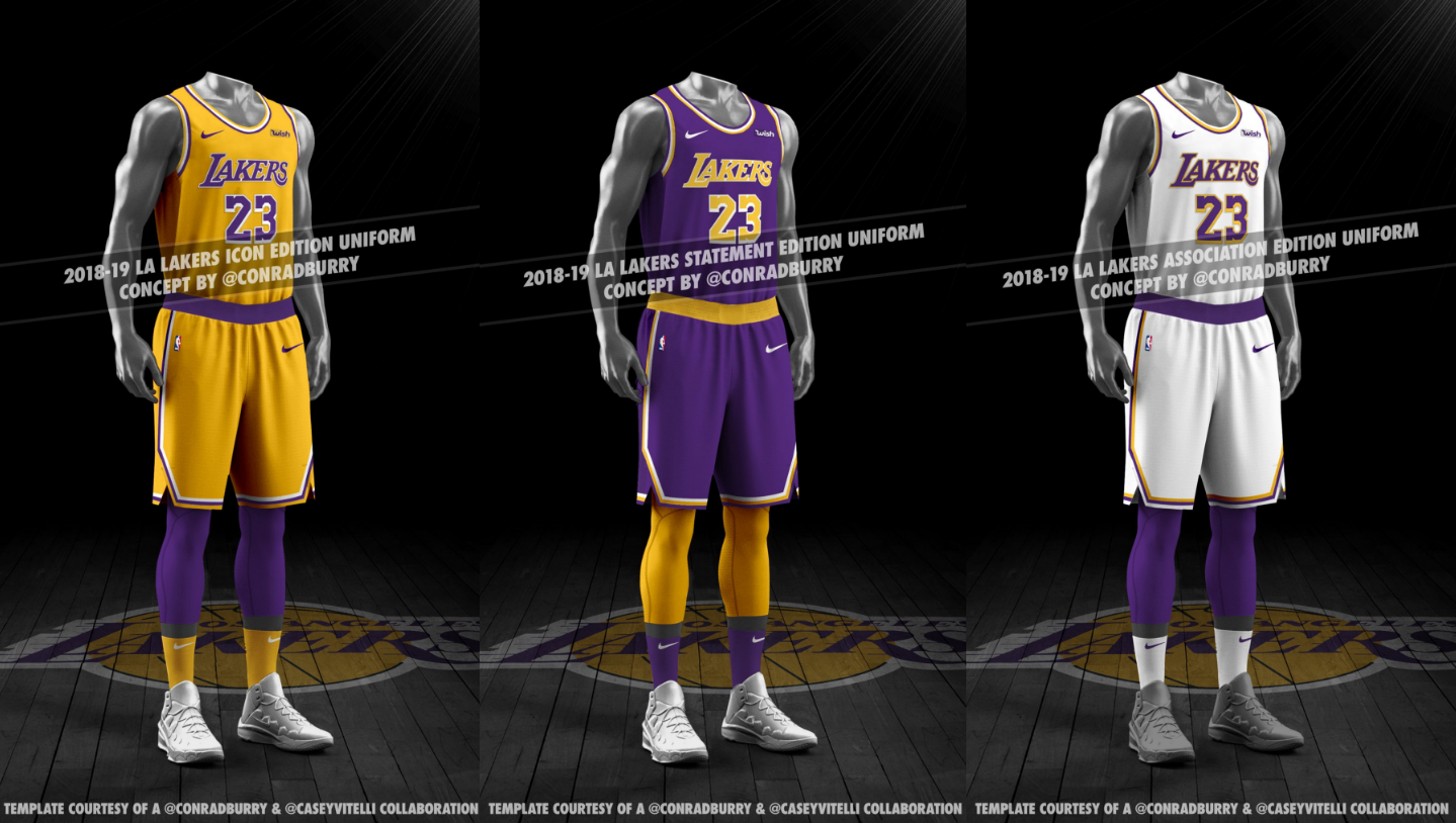 new product 4eeb3 8b0e0 LA Lakers New Uniform Leaks Again, New Mockups | Chris ...