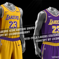 new product c8be6 7c02d LA Lakers New Uniform Leaks Again, New Mockups | Chris ...
