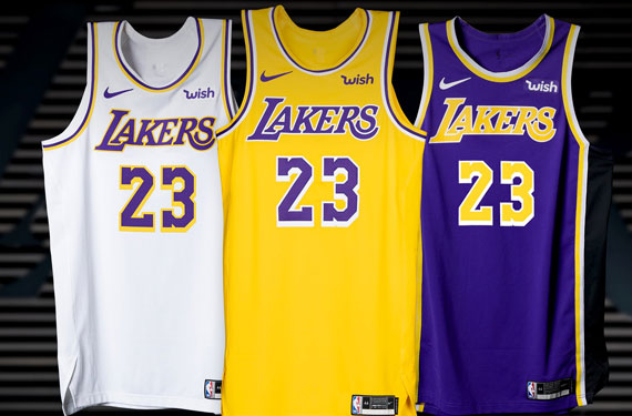 Lakers Officially Unveil New Uniforms for 2018-19 – SportsLogos ...