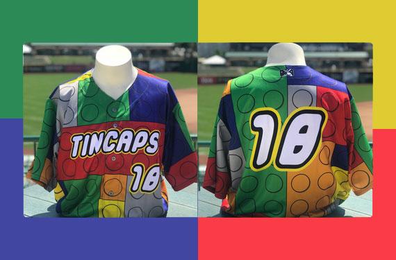 Fort Wayne TinCaps host Let's Play Tour with LEGO jerseys