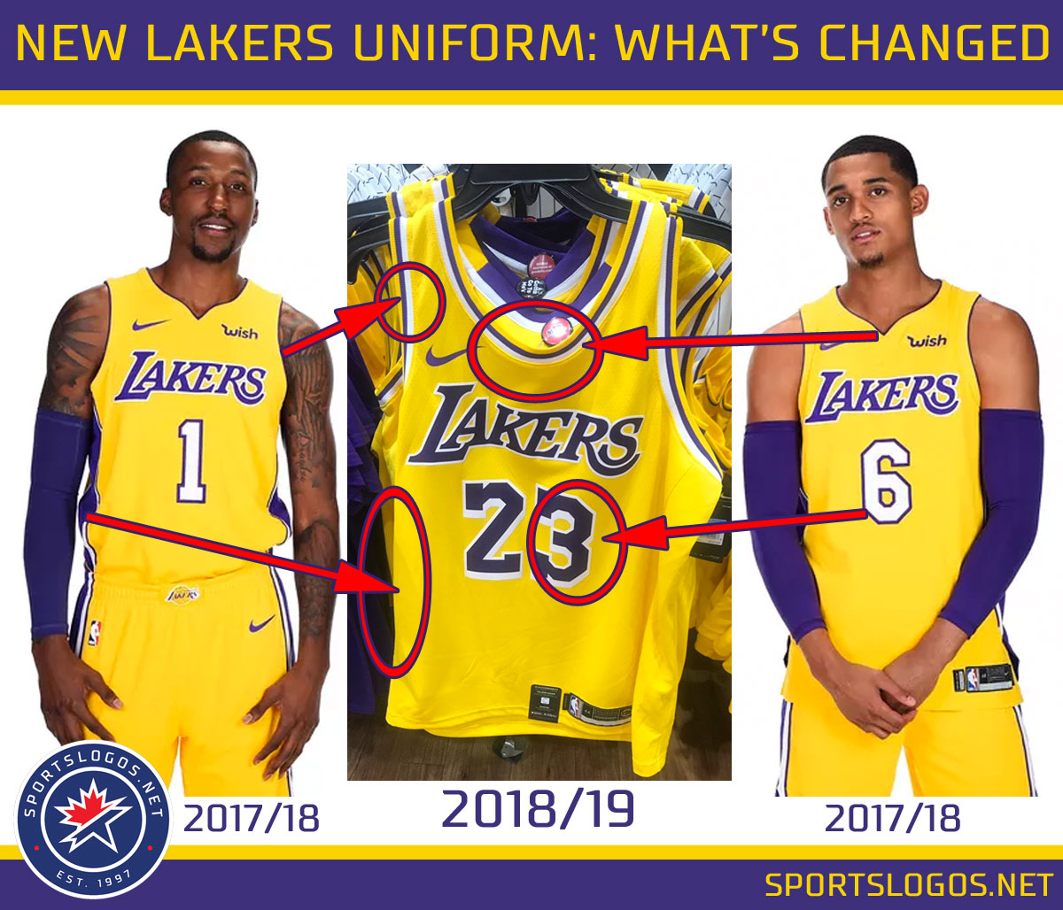 69eb5450289 Comparing Lakers uniform changes. Note the