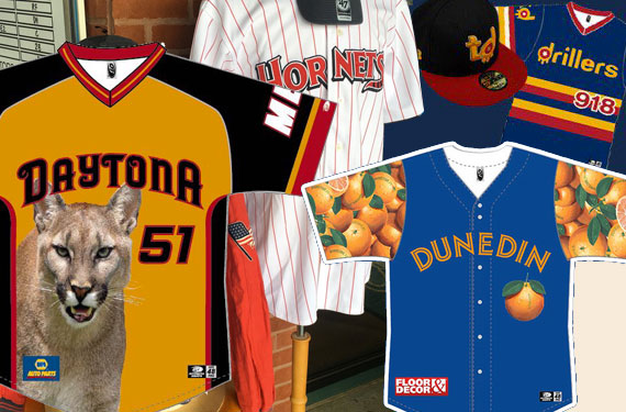 A plethora of minor league promo jerseys