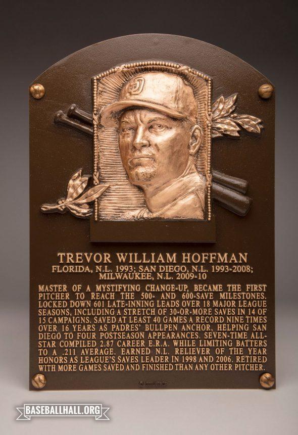 Trevor Hoffman's Baseball Hall of Fame Plaque (photo Twitter/@BaseballHall)