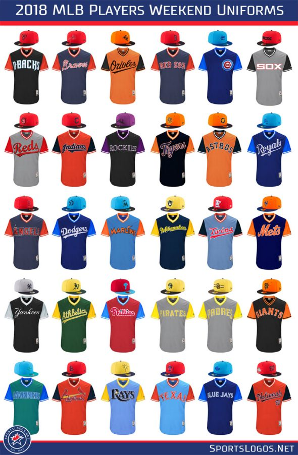 f996f1ad0 MLB Unveils Uniforms for 2018 Players Weekend