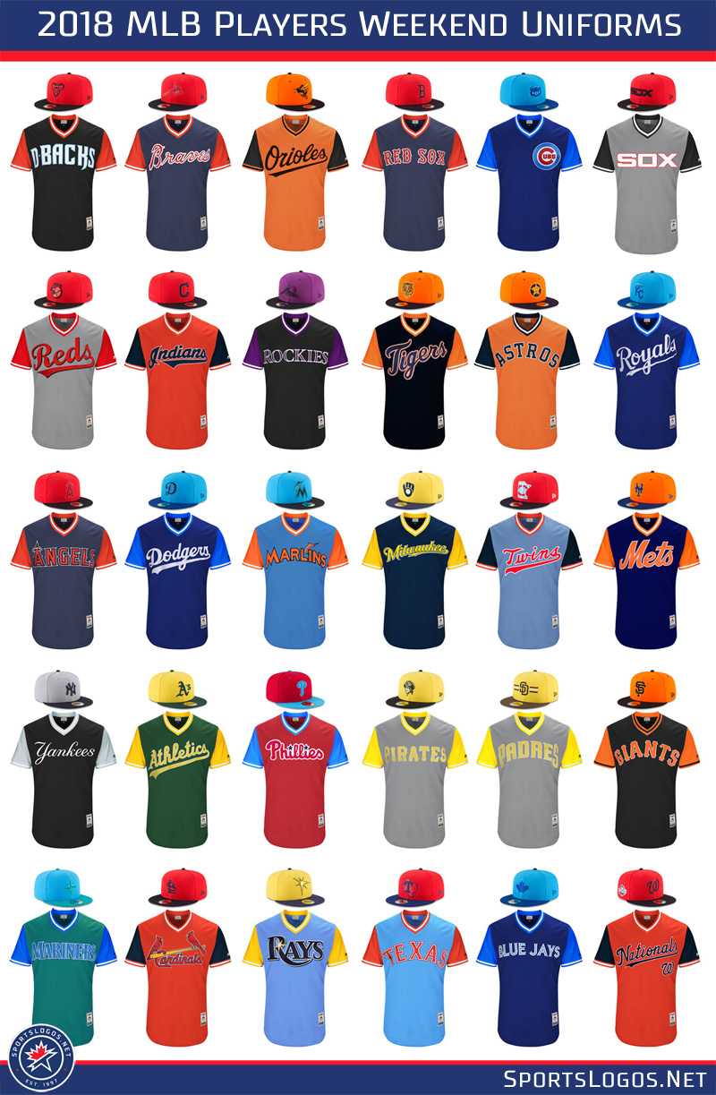 2018 MLB Players Weekend Uniforms All Teams | Chris Creamer's SportsLogos.Net News and Blog ...
