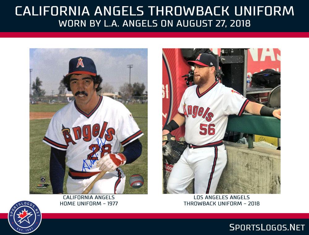 sale retailer 0bda1 faa5b Angels Throwback Uniform Compare | Chris Creamer's ...