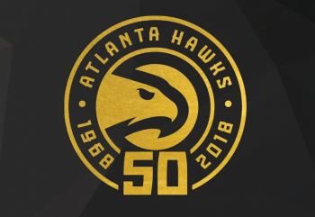 Atlanta Hawks 50th anniversary logo