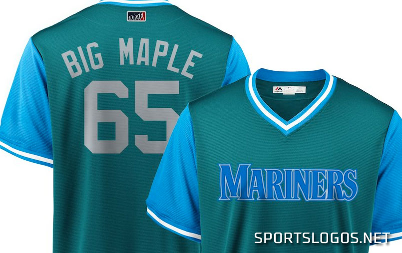brand new 17821 401f6 Big Maple Seattle Mariners Jersey Players Weekend 2018 ...