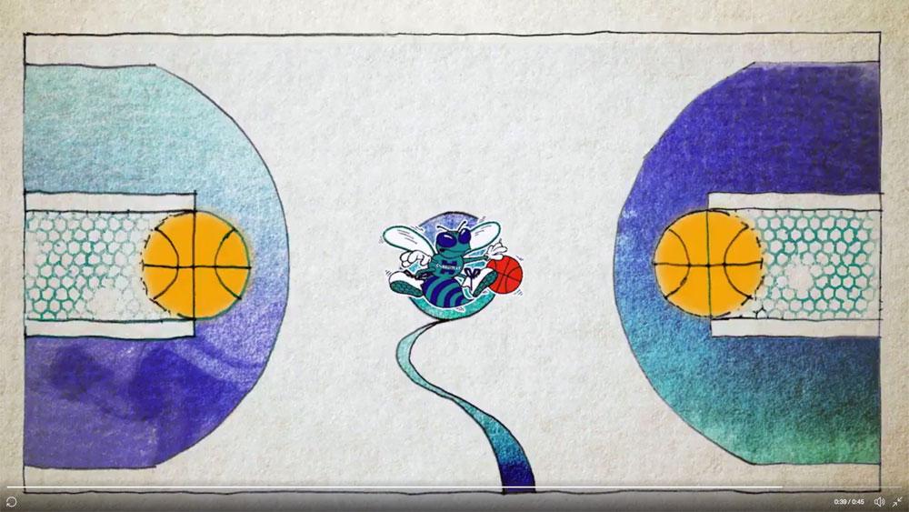 Hornets Go Full Retro, Unveil Throwback Court
