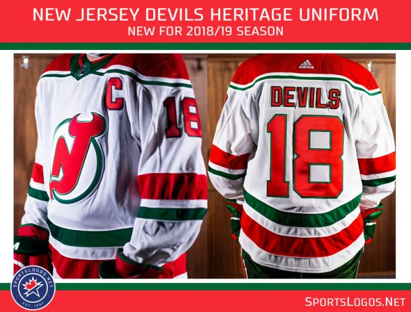e4123396 sale new jersey devils 2d2a2 33729; inexpensive the devils originally wore  this design from 1982 1992. this throwback jersey 480f8 7b20c