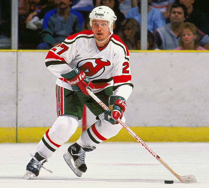 hot sale online 57a4c e3e34 New Jersey Devils 1980s red green uniform | Chris Creamer's ...