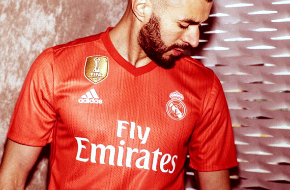 f125713ab Real Madrid today officially unveiled their all-red new Adidas third kit