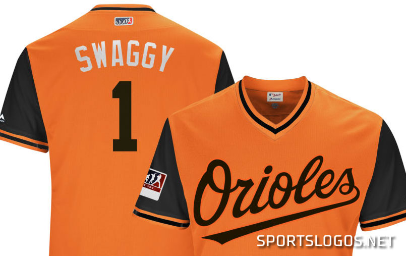 088216b44 Swaggy Orioles Players Weekend jersey 2018