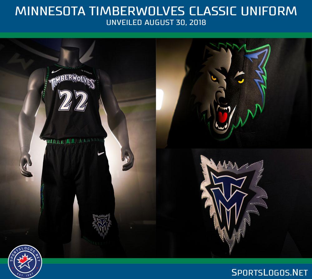 buy online a5bcc b3a8f Timberwolves Throwback Hardwood Classic Uniform 1990s Retro ...
