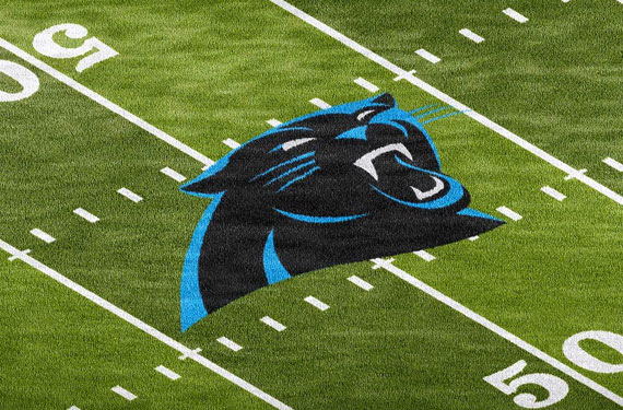 panthers to replace nfl shield with logo at mid field chris