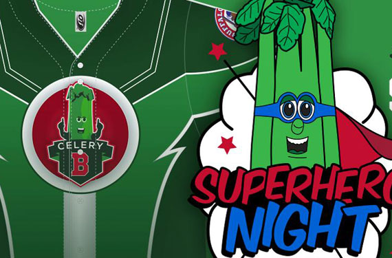 Buffalo Bisons celebrate Superhero Night with Super Celery uniforms
