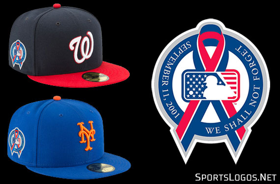 MLB  Ribbons Worn on Caps Across Baseball In Memory of 9-11  648a2dfc4d8