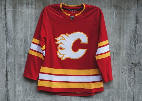 5b79ffabd59 Calgary Flames Unveil Retro Alternate Uniform