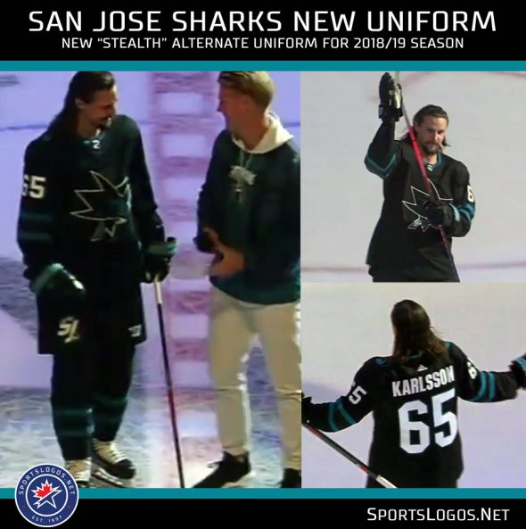 San Jose Sharks introduce their new uniform and Erik Karlsson, their new defenceman