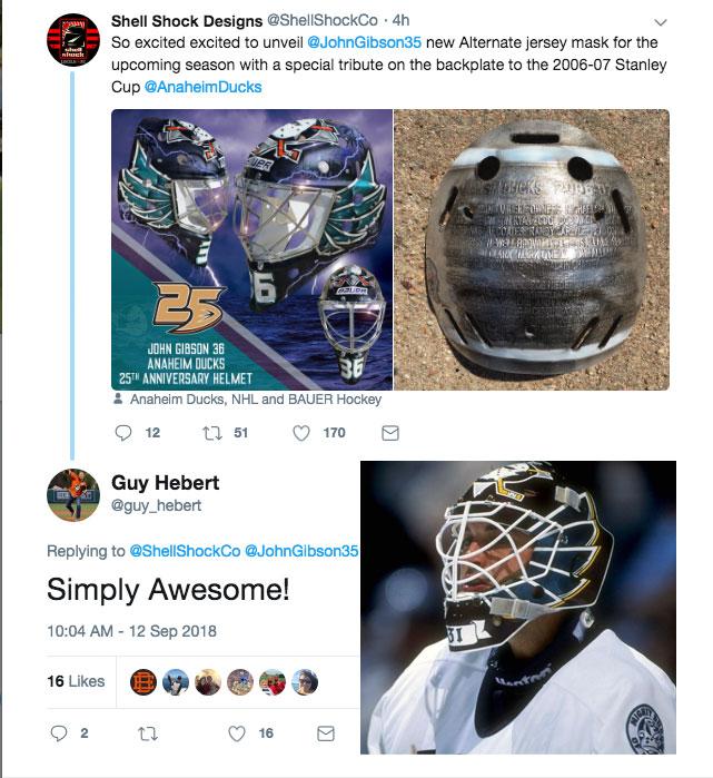 62ca9fb67 Guy Hebert Mighty Ducks Mask twitter | Chris Creamer's SportsLogos ...