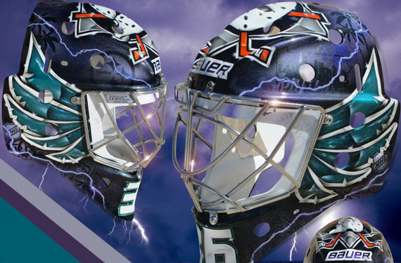 Ducks Goalie Brings Back a Classic For New Mask