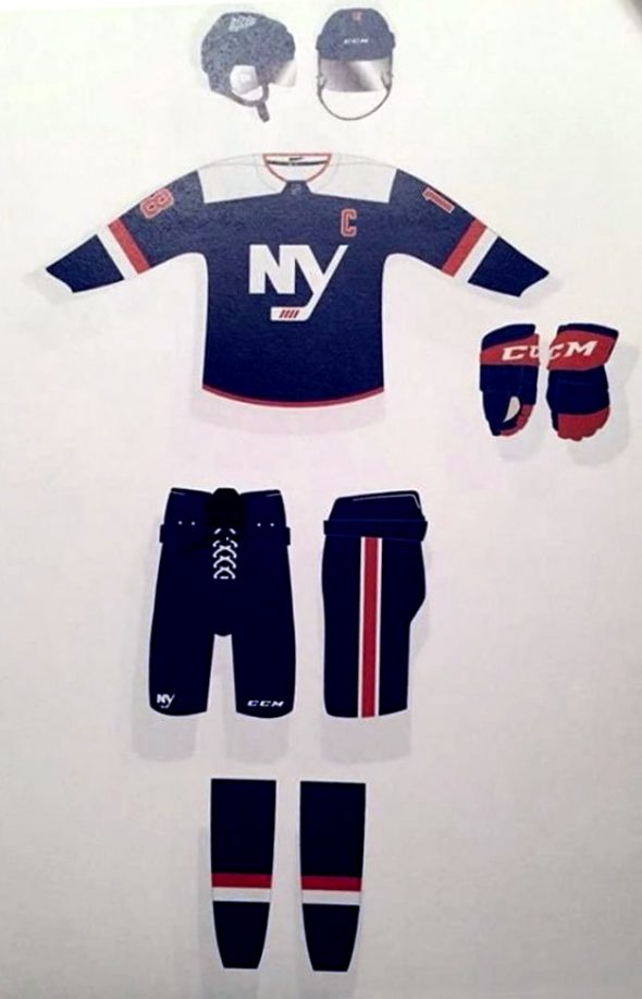 The leaked New York Islanders alternate uniform (via Twitter/@TwoTurtleDuffs)