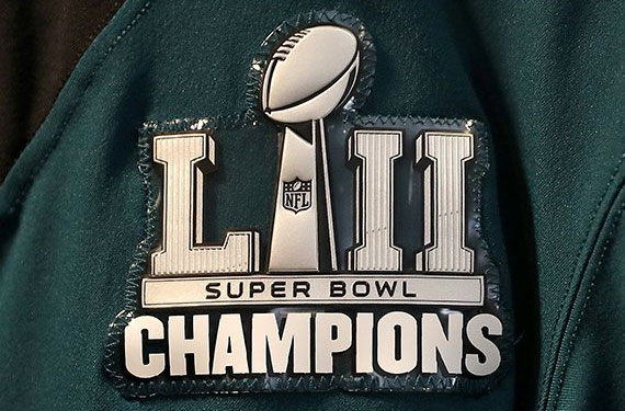 Philly Eagles Add Super Bowl Champs Patch for Tonight