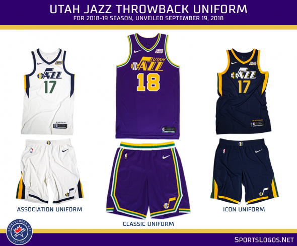 online retailer a51bf 9a829 Utah Jazz Turn 40 with Throwback Uniform, Anniversary Logo ...