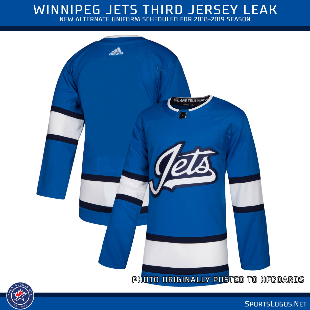 new style 49d53 9e71f Winnipeg Jets New Third Jersey Alternate Uniform Leak 2019 ...