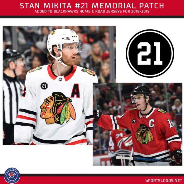san francisco dcdf5 bd1a5 Blackhawks Remember Mikita With Uniform Patch   Chris ...