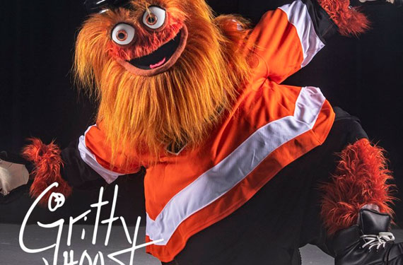 Flyers introduce terrifying orange mascot Gritty