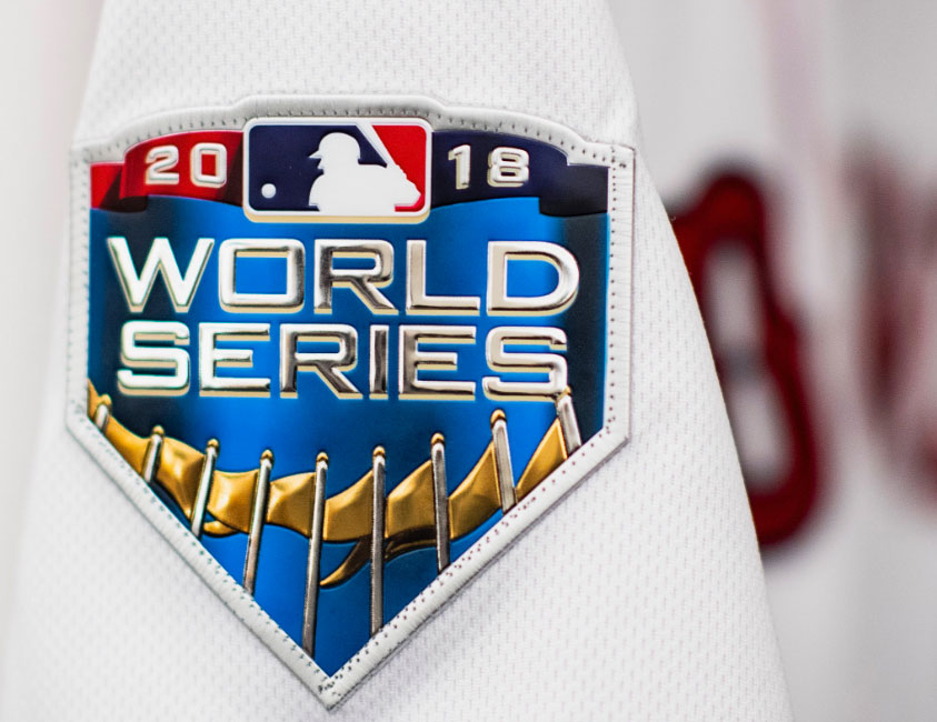 ec3d38f89 The 2018 World Series patch to be worn on the jersey sleeve of both teams