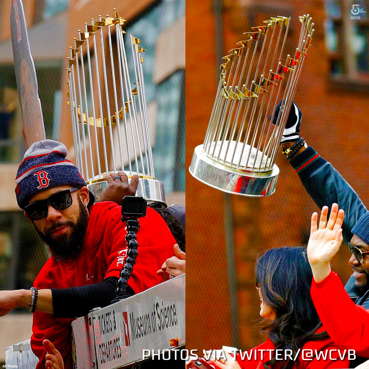World Series Trophy Damaged During Red Sox Parade