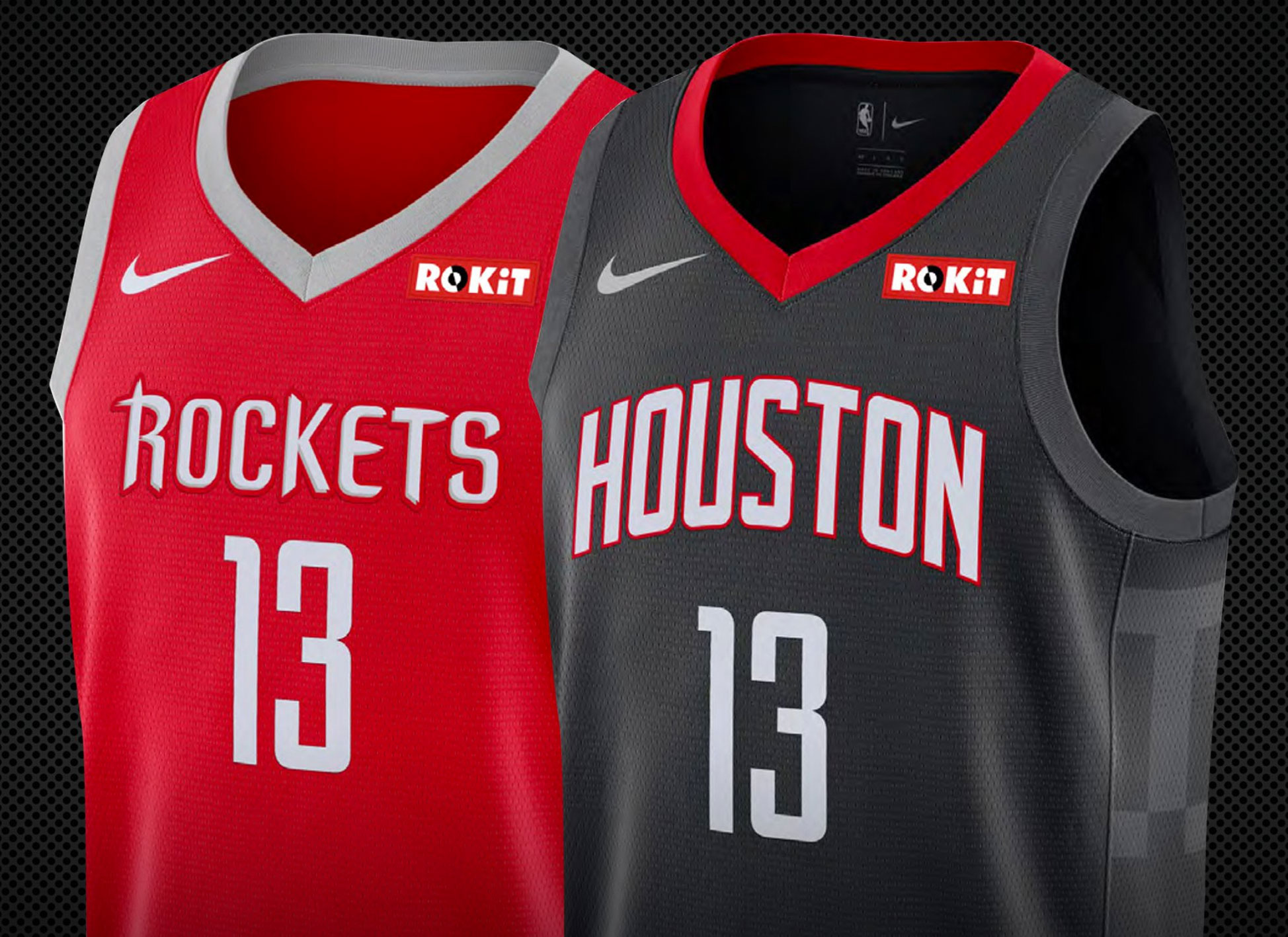 """Houston s """"ROKiT"""" patch will always feature the red rectangle around the  ROKiT logo regardless of the base colour of the jersey (see the example on  black ... 343d52170"""