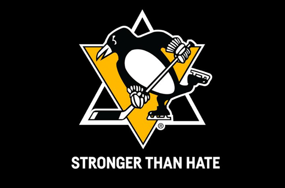 Penguins honour Pittsburgh shooting victims with ceremony, special logo
