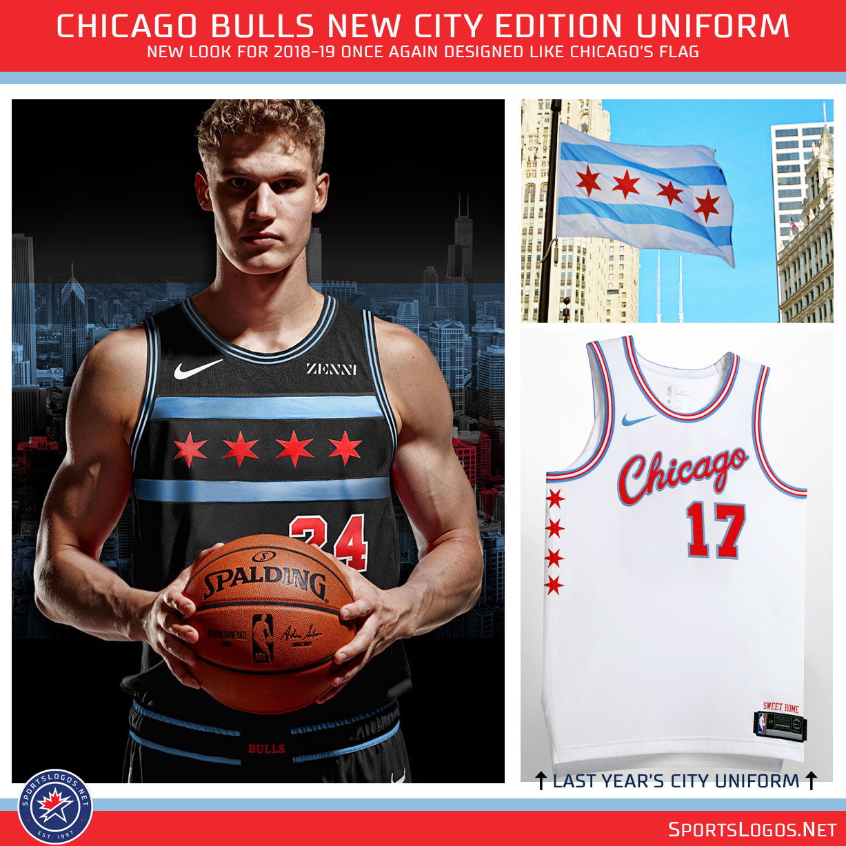 """911299d66 ... the new """"City Edition"""" uniform unveiled this afternoon by the Chicago  Bulls who for the second season in a row have opted to design a new uniform  based ..."""