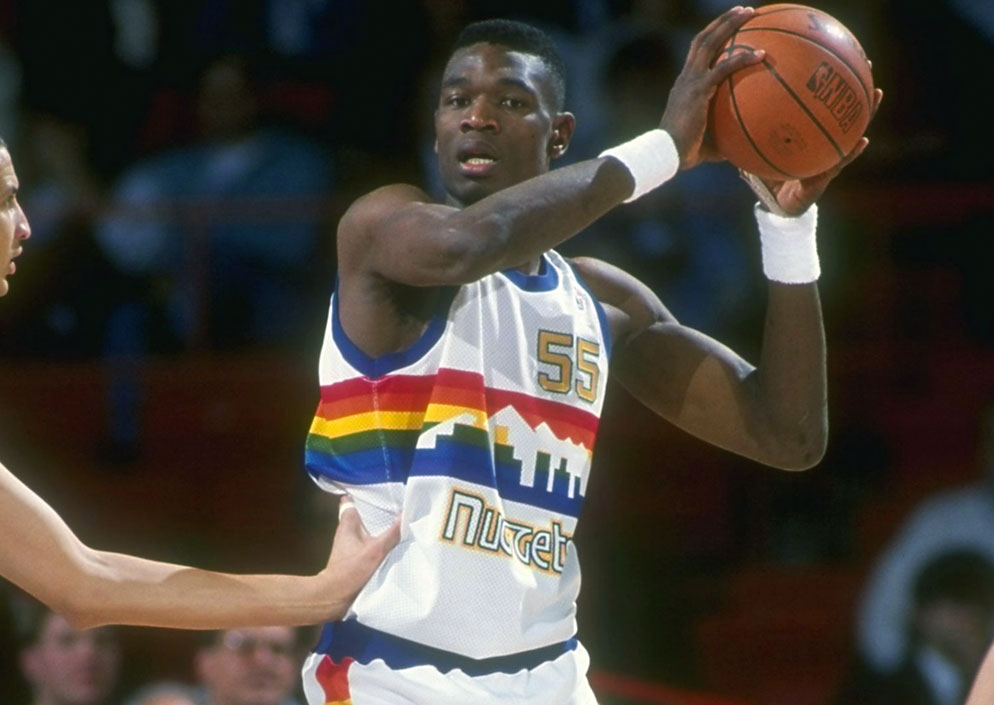 Denver will wear the new version of these rainbow uniforms for seven games  in the 2018-19 season cfa195c09