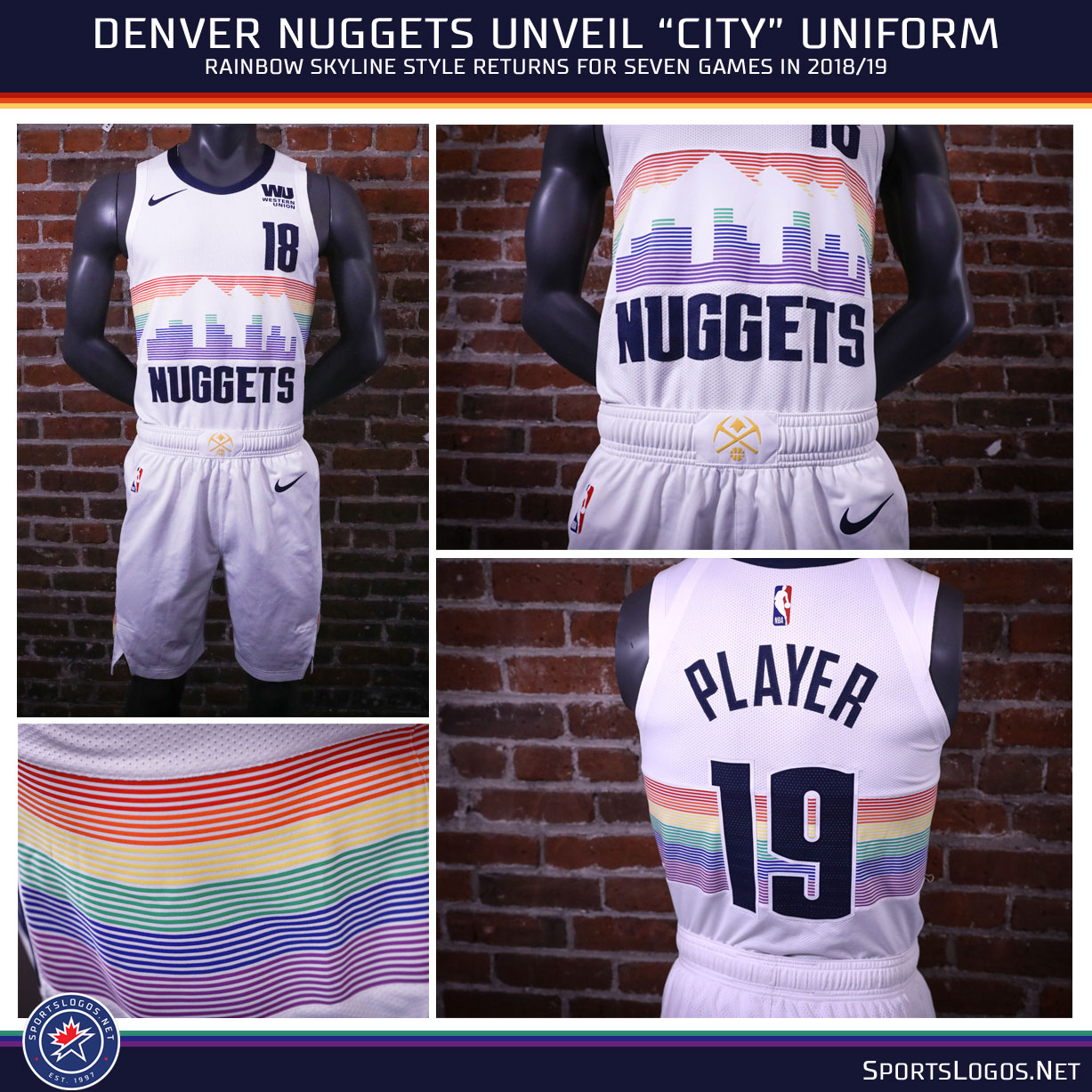 denver nuggets rainbow jersey