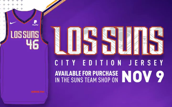 """13dc9eda1d1b By the jock tag is the phrase """"SOMOS PHX"""" which translates to """"We Are  Phoenix""""  The Suns will wear their new City Edition LOS SUNS jerseys ..."""