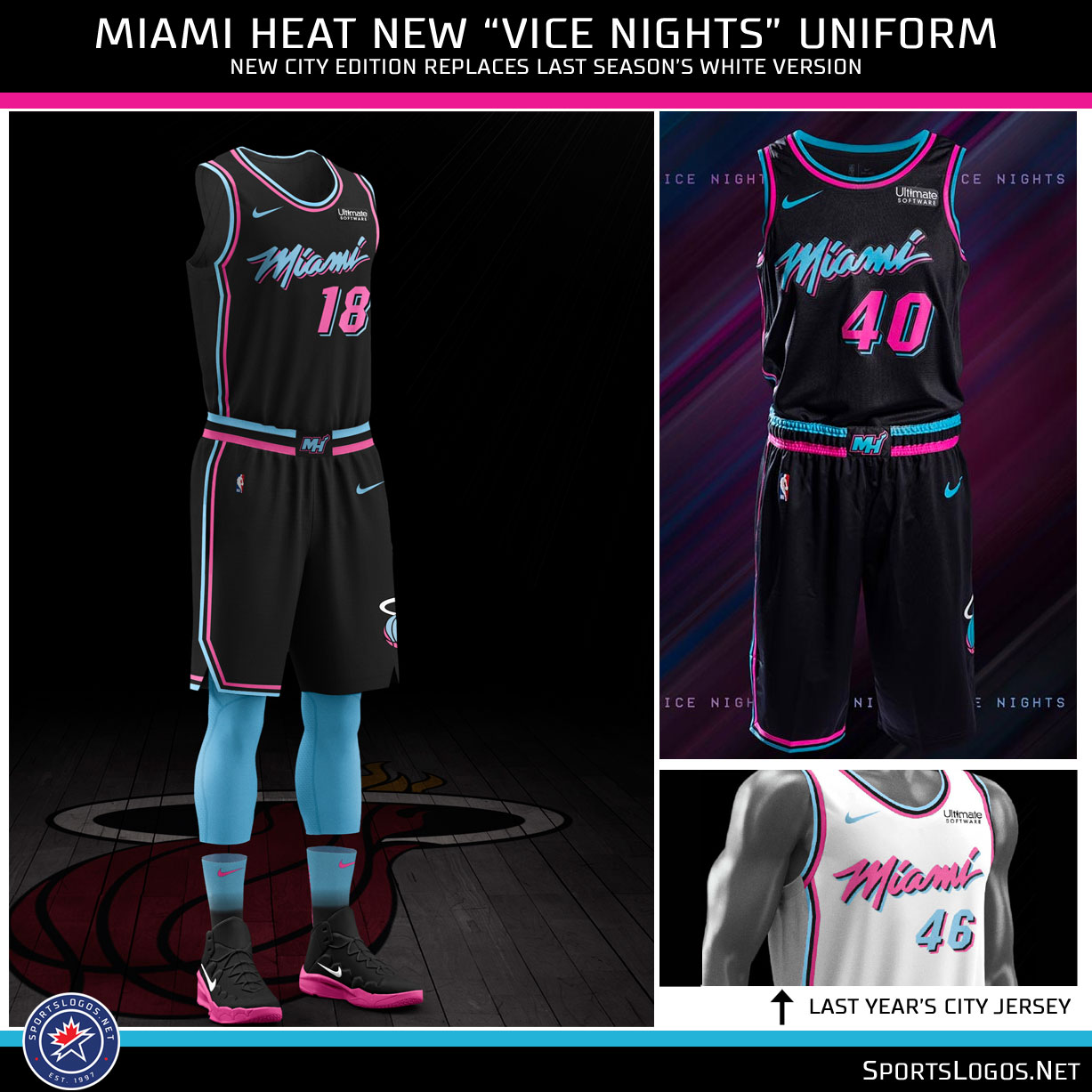 promo code d4c43 965d2 Vice Nights 2.0: Miami Heat Unveil New City Uniform | Chris ...