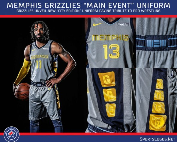timeless design 8a7e1 b350c The Main Event: Grizzlies Unveil Wrestling-Inspired Uniforms ...