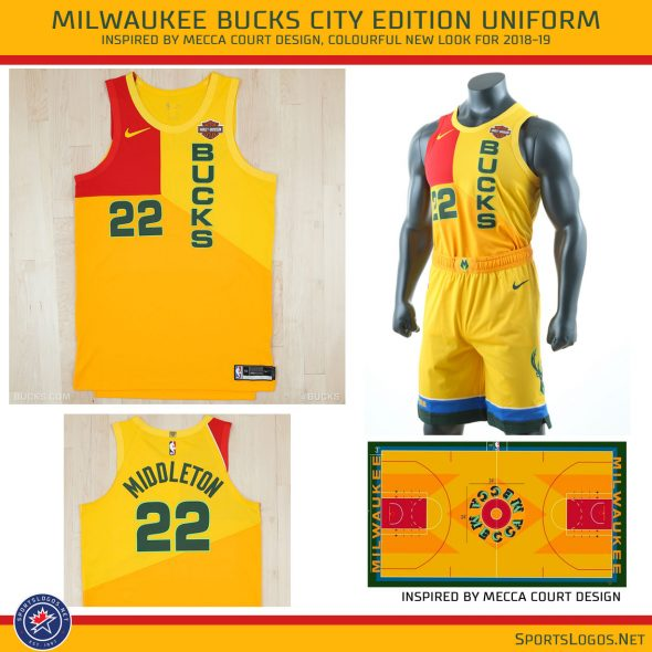 size 40 5e456 91e2f Dressed for Court: Bucks Unveil MECCA Themed Uniform | Chris ...