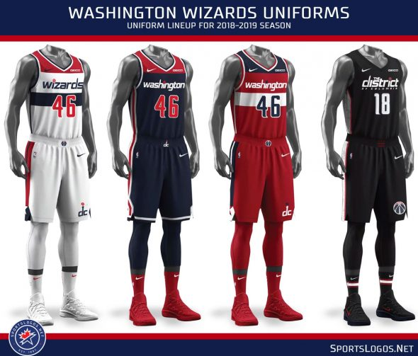 detailed pictures a5eaf 9a8cf Wizards Rep the District, Unveil New Uniform & Ad Patch ...