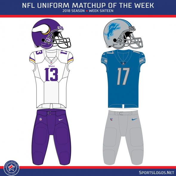 2018 NFL Week 16 Uniform Matchups  f067fc16f