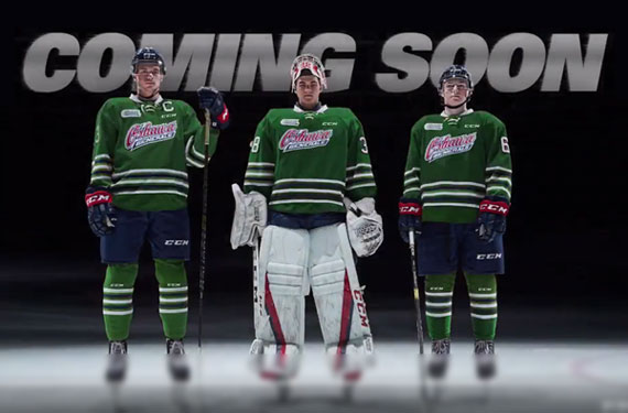 Oshawa Generals Tease New Green Uniform